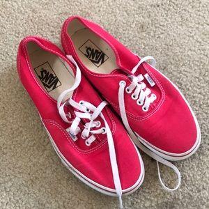 Vans low top red